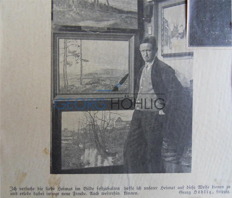 Georg Höhlig im Atelier