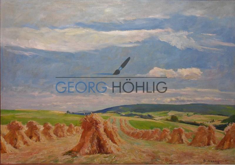 Georg Höhlig Crandorf Wiese mit Kornpuppen