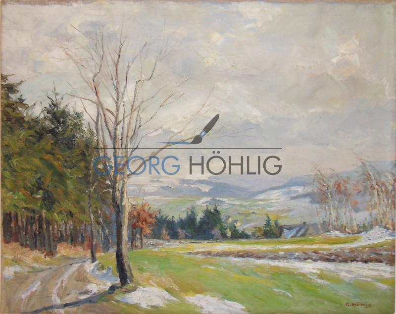 Gemälde Waschleithe Fürstenberg von Georg Höhlig
