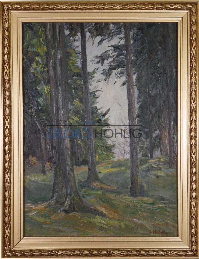 Gemälde Waschleithe-Kutschenweg von Georg Höhlig
