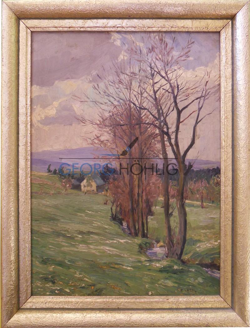 Gemälde Waschleithe Oswaldthalbach von Georg Höhlig