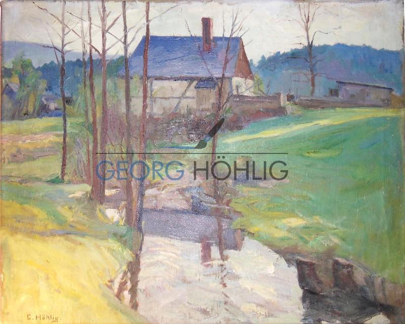 Gemälde Waschleithe von Georg Höhlig