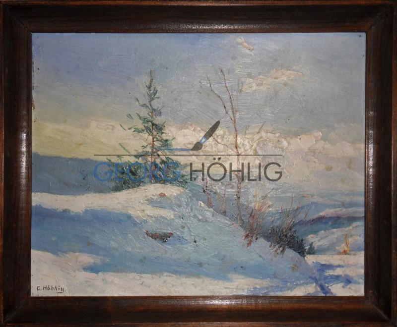 Georg Höhlig Wetterschutzhütte Crandorf Winter